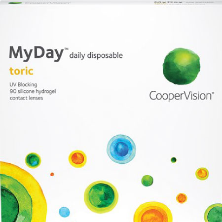 MyDay Daily Toric Disposable 90 Pack box image